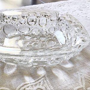 Vintage Bubble Glass Ashtray/Trinket/Jewelry Dish